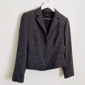 Tahari Ruffle Tweed Blazer